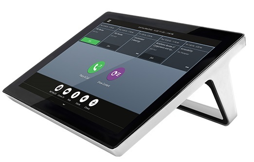 Polycom RealPresence Touch with silver trim for use with Group Series models. Requires PoE network connection or optional external power supply (2200-