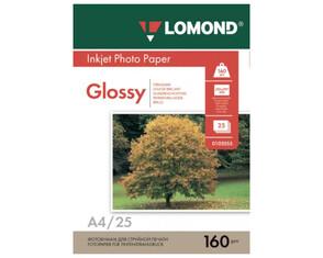 Бумага Lomond 0A4/160г/м2/25л./белый глянцевое, 102079