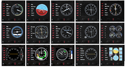 Игровой манипулятор Logitech Flight Instrument Panel