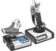 Контроллер для игровых симуляторов Logitech G X52 Space/Flight H.O.T.A.S. (джойстик и рычаг управления двигателем для