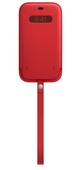 Apple iPhone 12 Pro Max Leather Sleeve with MagSafe (PRODUCT)RED Кожанный чехол MagSafe для iPhone 12/12 Pro Max красного цвета Чехол Apple iPhone 12