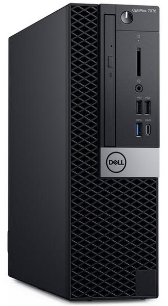ПК Dell Optiplex 7070 SFF i7 9700 (3)<wbr/>/8Gb<wbr/>/1Tb 7.2k<wbr/>/SSD256Gb<wbr/>/RX 550 4Gb<wbr/>/DVDRW<wbr/>/CR<wbr/>/Windows 10 Professional 64<wbr/>/GbitEth<wbr/>/WiFi<wbr/>/BT<wbr/>/200W<wbr/>/клавиатура<wbr/>/мышь<wbr/>/черный