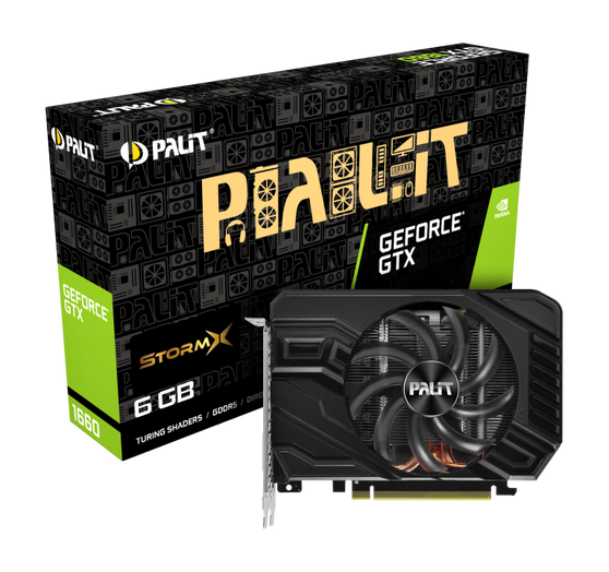 Видеокарта Palit GeForce GTX 1660 6 ΓБ Retail