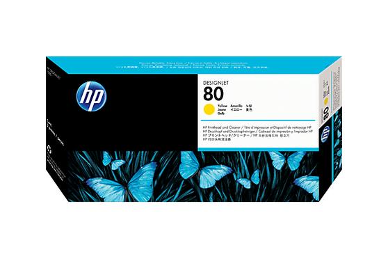 Печатающая головка желтый HP Inc. 80, C4823A