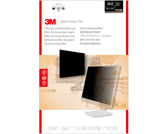 """Пленки защиты информации Пленка защиты информации для монитора 3M PF230W9B (7000021450) 23"""" черный"""