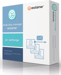 Exclaimer Email Alias