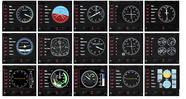 Контроллер для игровых авиасимуляторов Logitech G Flight Instrument Panel (приборная панель с ЖК-дисплеем для