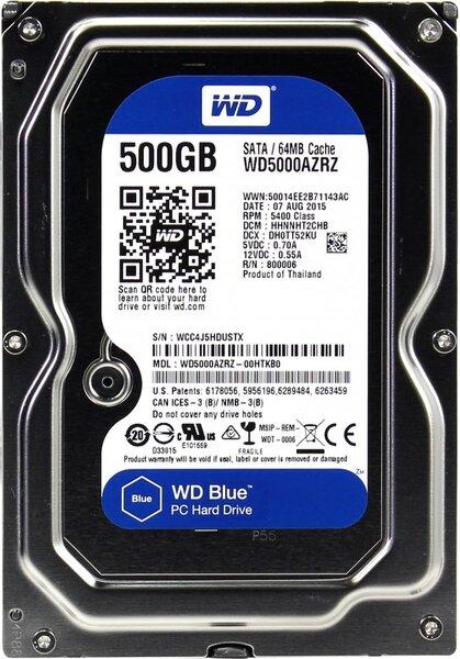 Жесткий диск  Western Digital Blue 3.5  500GB 5.4K SATA3