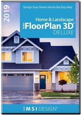 IMSI/Design, LLC TurboFLOORPLAN Home & Landscape (лицензии), Deluxe 2019, 00TFD521XX