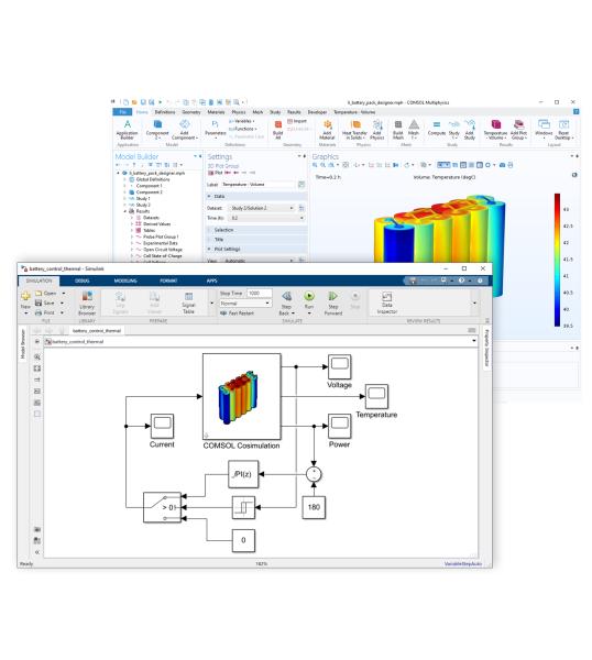 Модуль «LiveLink™ for Simulink» для программы COMSOL Multiphysics®