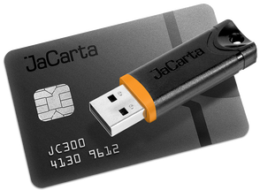 Аладдин Р.Д. JaCarta (смарт-карта PKI), Индивидуальная упаковка. Белый пластик. до 5 000 шт. (за единицу), JC300-3D