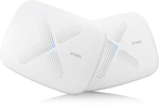 Wi-Fi роутер ZYXEL WSQ50 Multy X WiFi System (Pack of 2), AC3000 Tri-Band WiFi , AC Wave2, MU-MIMO, 802.11a/b/g/n/ac (300+866+1733 Mb/s), 9 Antenns, 1xWAN GE, 3xLA