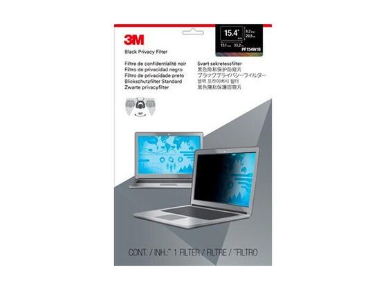 """Экран защиты информации для ноутбука 3M PF154W1B (7000013837) 15.4"""" черный"""