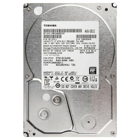 Жесткий диск  TOSHIBA 3.5 HDD DT01ACA 2TB 7.2K SATA3