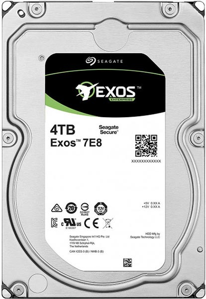 Жесткий диск  SEAGATE Exos 7E8 3.5  4Tb 7.2K SAS 12Gb/s