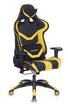 Кресло игровое Бюрократ CH-772N/BL+YELLOW две подушки черный/желтый искусственная кожа фото