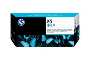 Печатающая головка голубой HP Inc. 80, C4821A