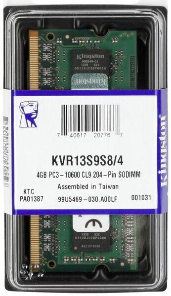 Оперативная память Kingston ValueRAM  KVR13S9S8/4, RTL
