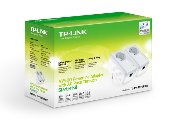 Адаптер PowerLine TP-LINK TL-PA4010PKIT