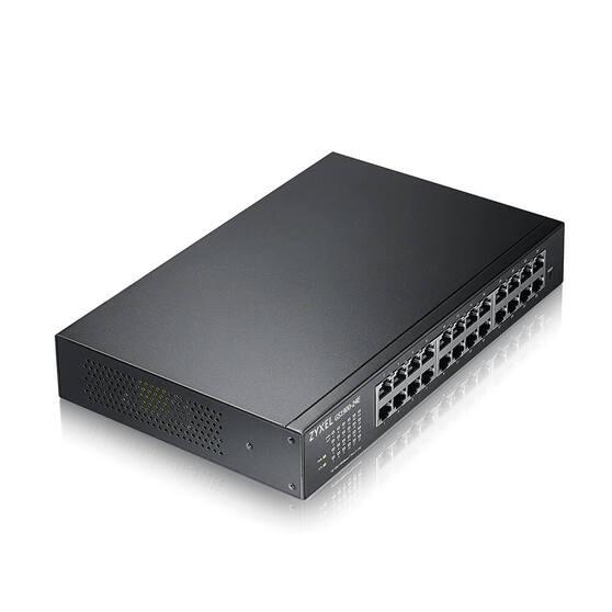 """Smart L2 коммутатор Zyxel GS1900-24E, rack 19"""", 24xGE, настольный, бесшумный"""