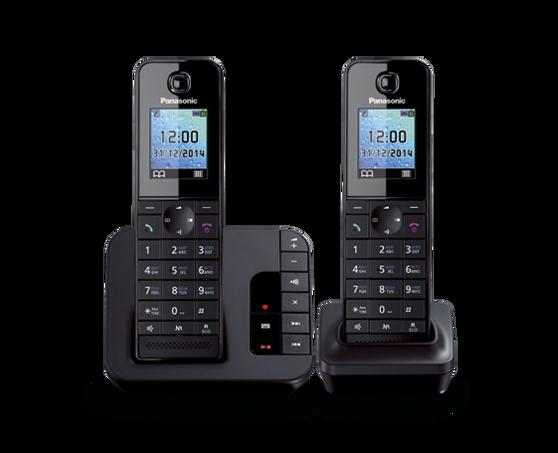Радиотелефон Panasonic TGH222, 2 трубки , автоответчик