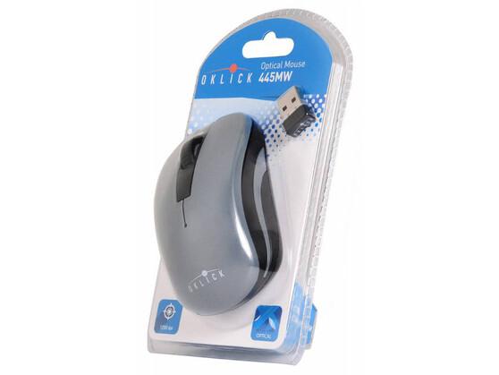 Мышь Oklick USB 445MW TM-1000 BLACK/GREY, цвет черный
