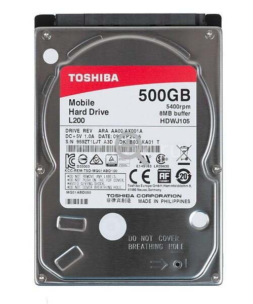 Жесткий диск  TOSHIBA 2.5 HDD L200 500GB 5.4K SATA3
