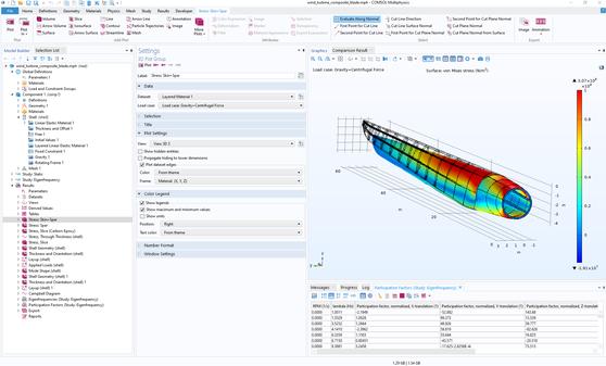 Модуль «Композитные материалы» для программы COMSOL Multiphysics®