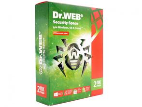 Доктор Веб Dr Web Security Space, Лицензия Комплексная защита (коробочная версия), 2 ПК на 1 год (1 лицензионный сертификат Dr.Web с двумя серийными номерами на 1 ПК), BHW-B-12M-2-A3