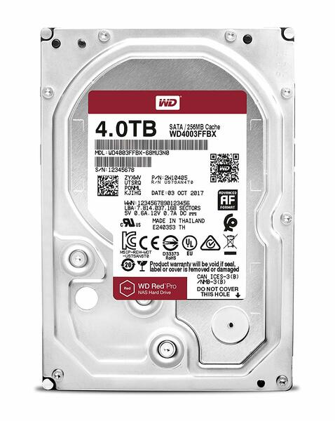 Жесткий диск  Western Digital Red Pro 3.5  4TB 7.2K SATA3