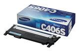 Купить Тонер-картридж голубой Samsung CLT-C406S, ST986A, Голубой