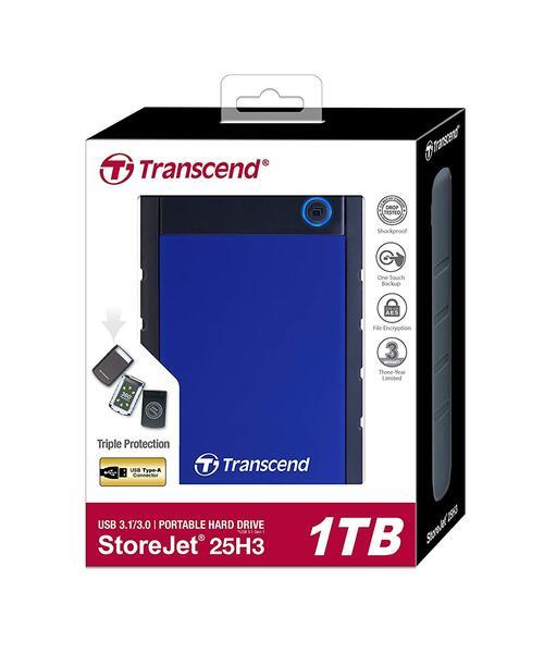 Внешний HDD TRANSCEND StoreJet 1TB