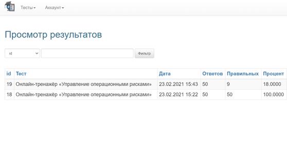 Онлайн-тренажер «Эксперт по управлению операционными рисками»